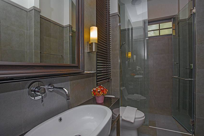 Toilet with basin wash and shower Of Sala Retreat Villa