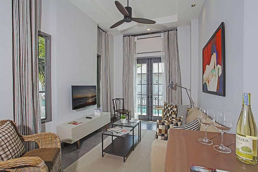 Living room with TV Of Sala Retreat Villa