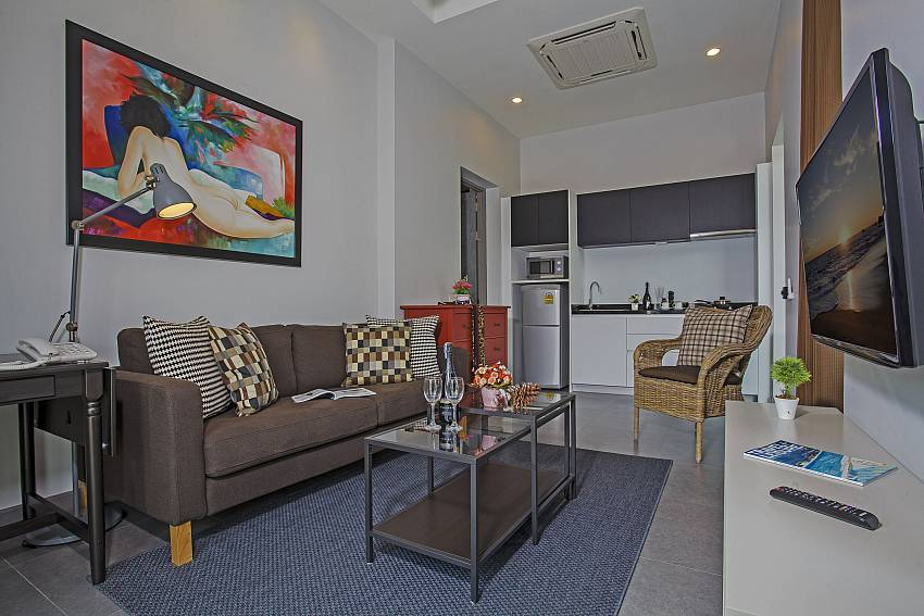 Living room is decorated with pictures of art Of Sala Retreat Villa