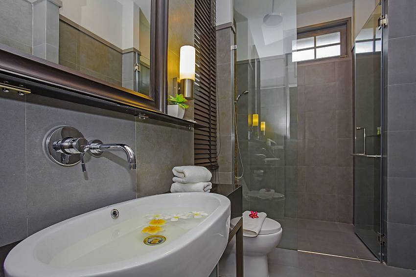 Basin wash with toilet and shower Of Sala Retreat Villa
