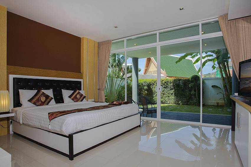 Bedroom near the pool Of Kata Horizon Villa B1 (Second)
