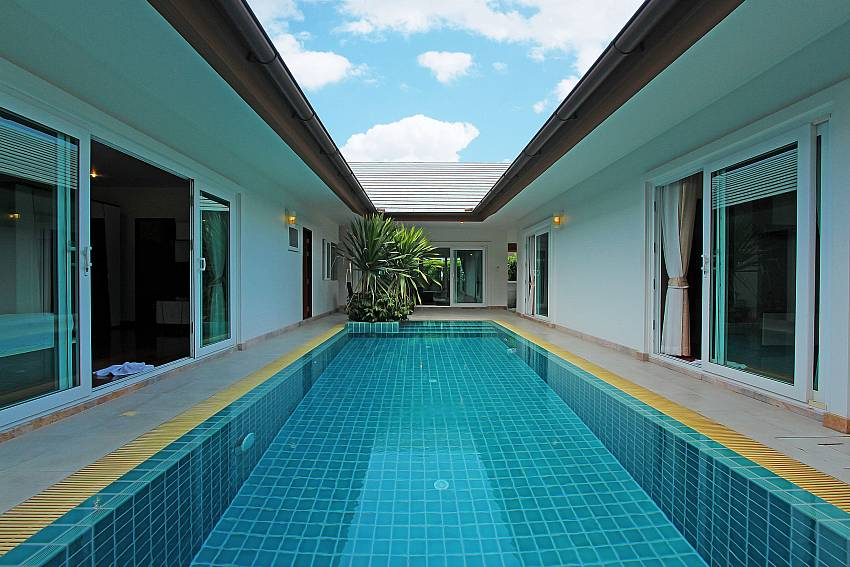 Private Swimming pool in the middle of the house Of Rossawan Pool Villa