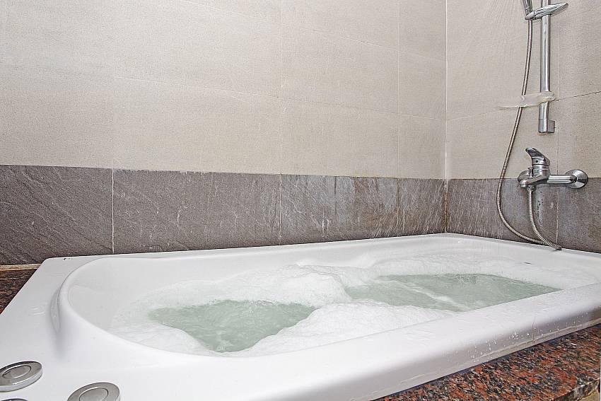 Jacuzzi bath tub at Rossawan Pool Villa in Pattaya