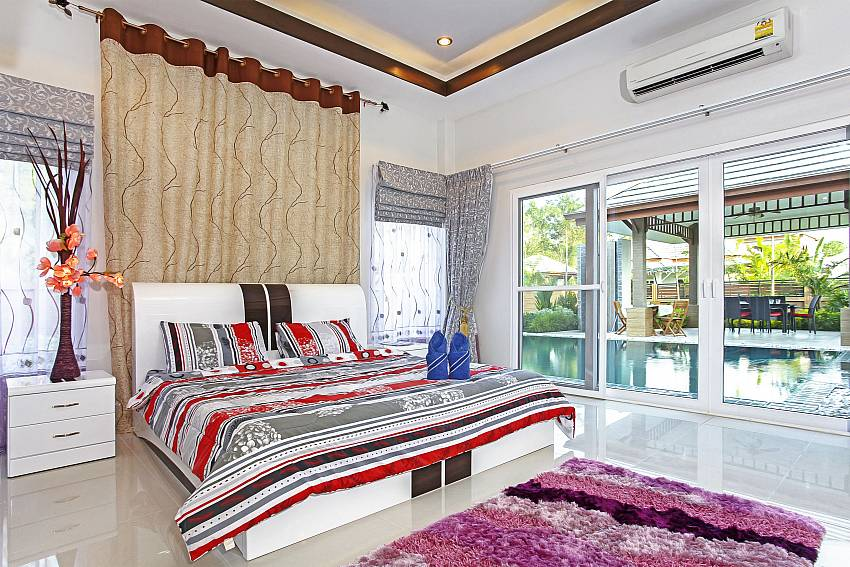 Bedroom near the pool Of Thammachat P3 Vints No.140 (Third)