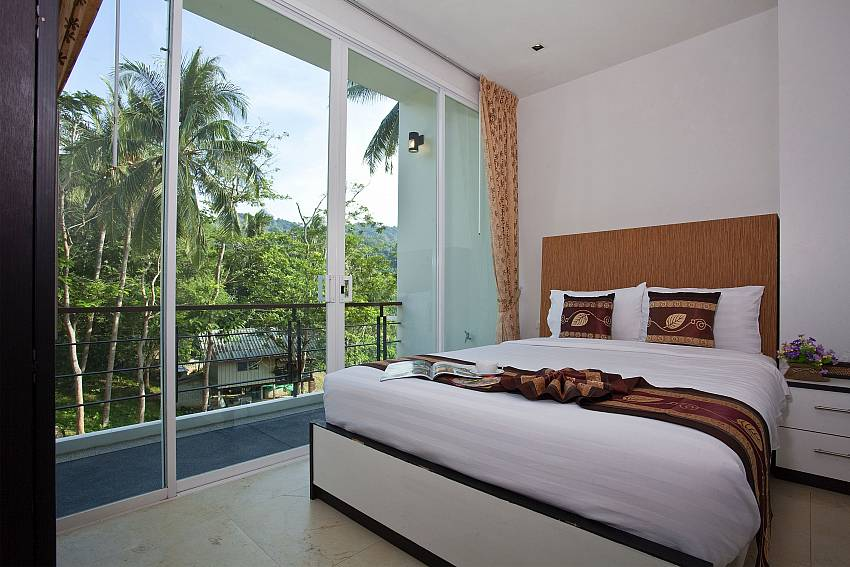 Bedroom can walk to the balcony Of Kata Horizon Villa B2 (Four)