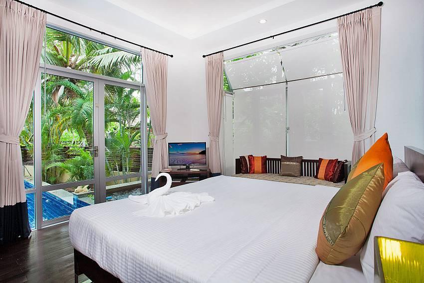 Bedroom near the pool Of Jomtien Waree 2 (First)