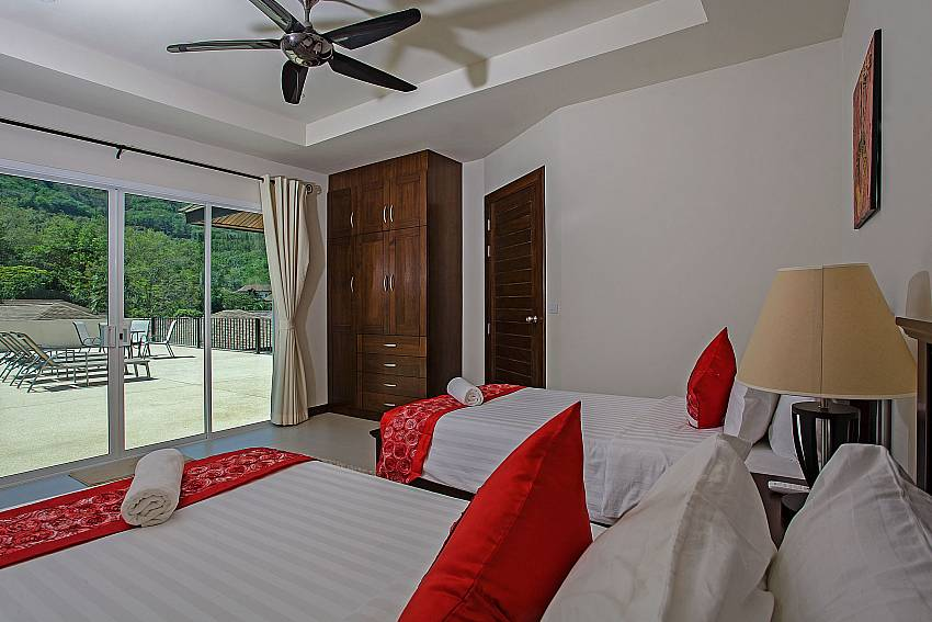Double bedroom near balcony Of Rawayana Pool Villa (Five)