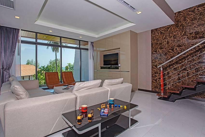 Living room near the ladder Of Equilibrium Rawai Villa