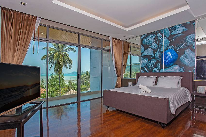 Bedroom see view with TV Of Equilibrium Rawai Villa (First)