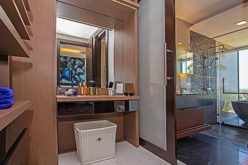 Dressing room near the bathroom Of Equilibrium Rawai Villa