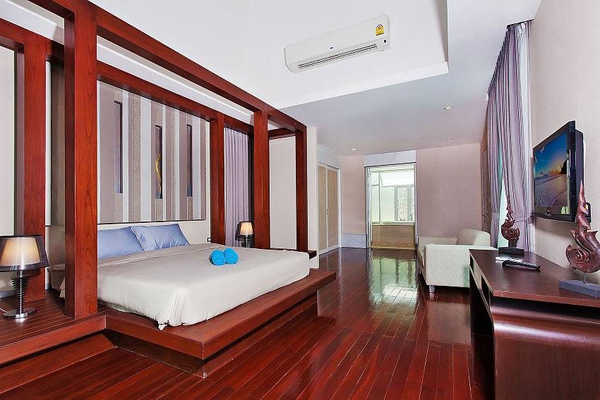 Bedroom with TV of Jomtien Waree 9 (First)