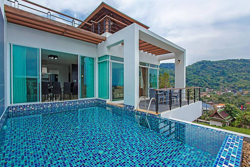 Swimming pool in front of the house of Kata Horizon Villa A1