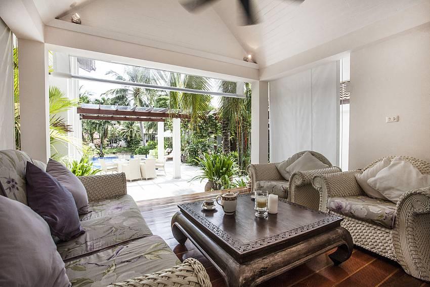Living room outside Of Villa Kanya