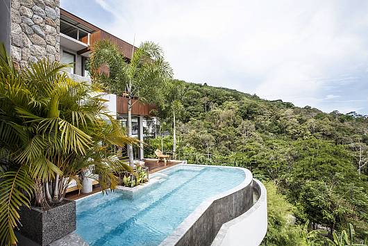 Saengdao Deluxe Villa 4 Bed Hillside Mansion Bangtao 4 Bedrooms House  For Rent  in Phuket