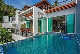 豪华四室海景泳池别墅,普吉岛卡塔海滩