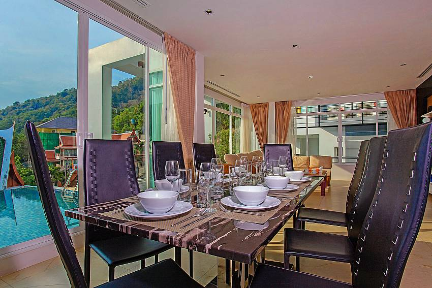 Dinning table near the pool of Kata Horizon Villa A2