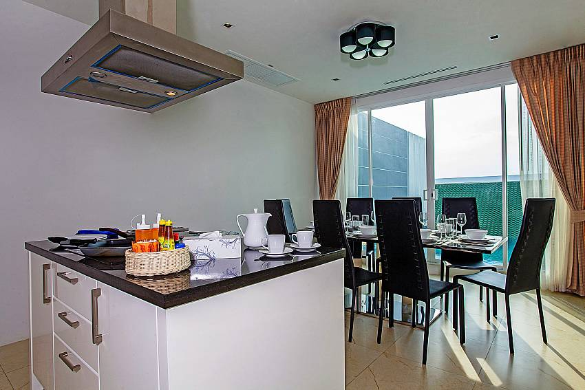 Cooking bar near the dinning table of Kata Horizon Villa A2
