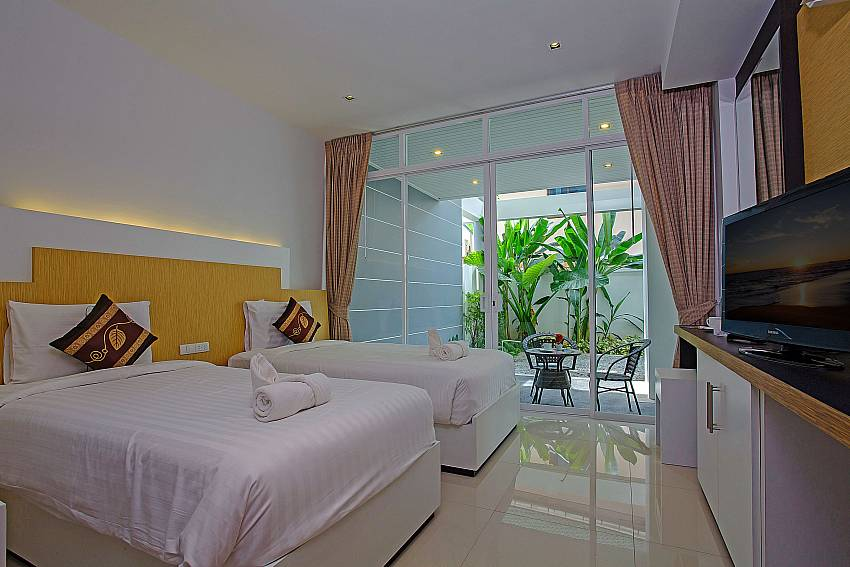 Double bedroom can walk to outside of Kata Horizon Villa A2 (Second)