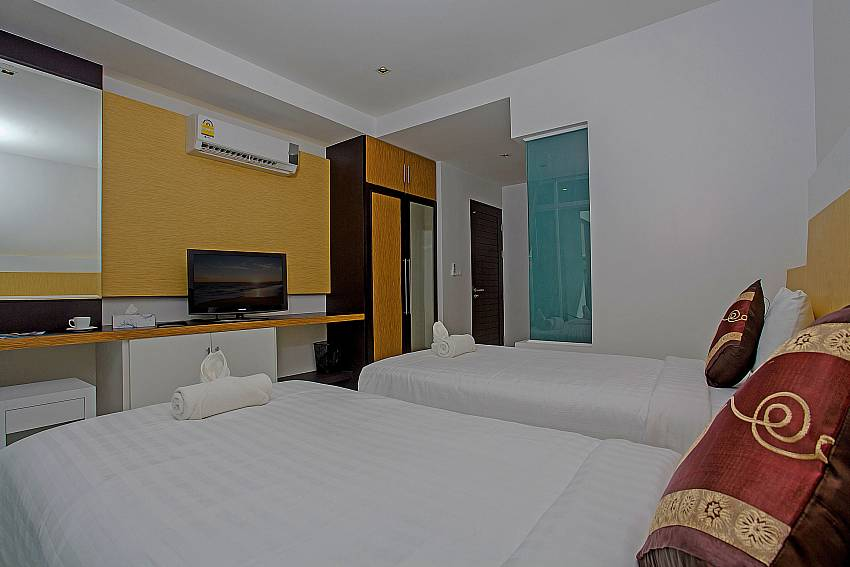 Double bedroom with TV of Kata Horizon Villa A2 (Second)