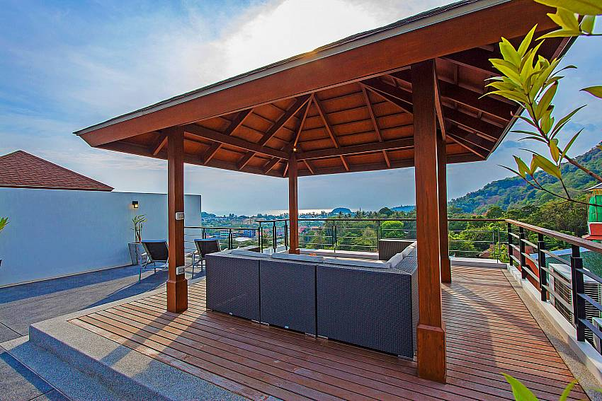 Pavilion outdoor above of Kata Horizon Villa A2