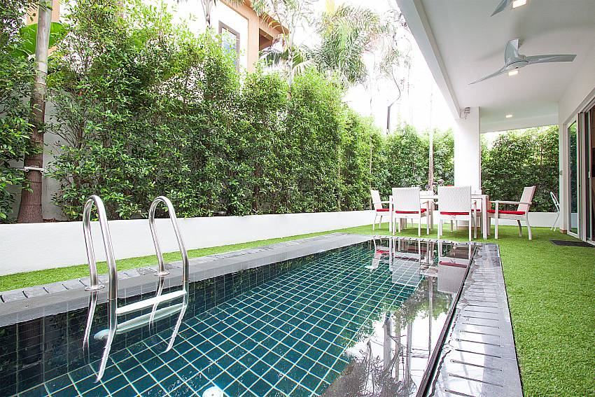 Private Plunge pool at 2 bed Fantasia Apartment in Pattaya
