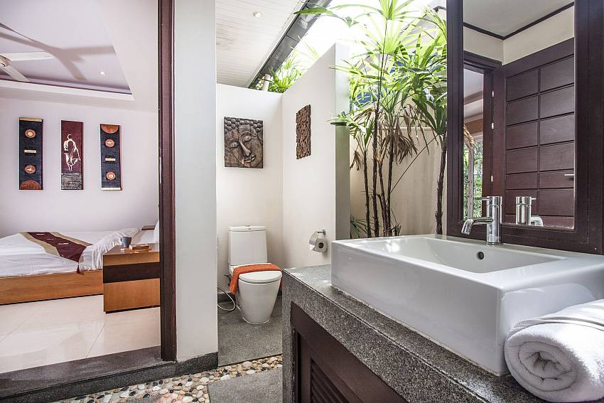 Basin wash with toilet outside of Villa Lipalia 104