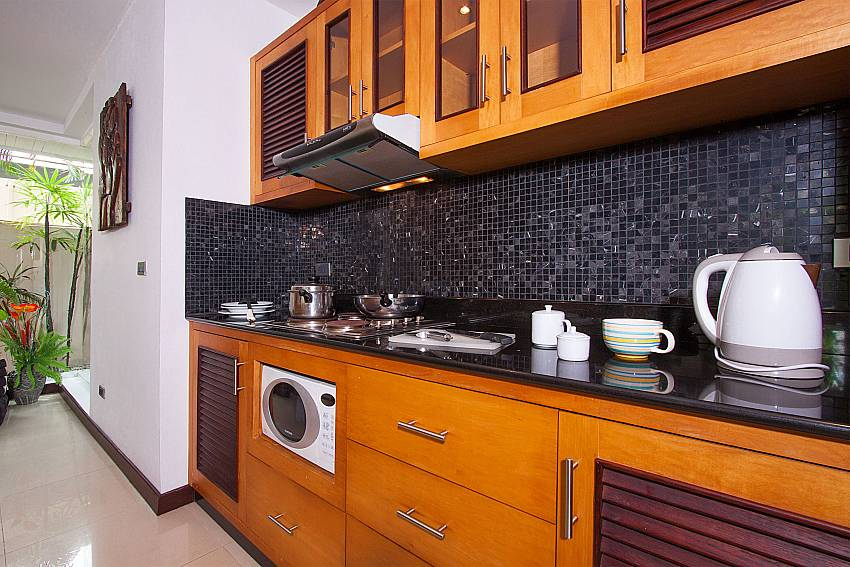 Modern equipped kitchen at Villa Lipalia 104 in Koh Samui