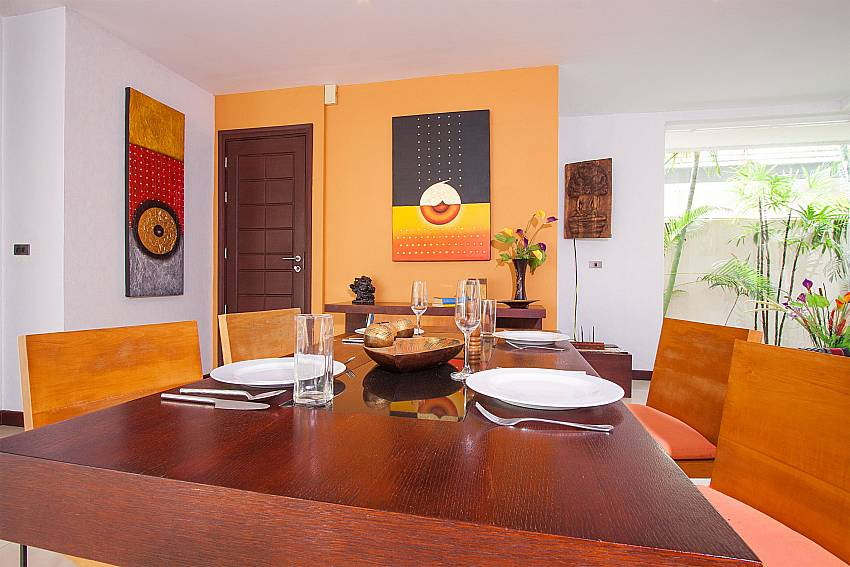 Open plan dining are at Villa Lipalia 104 Lipa Noi Koh Samui