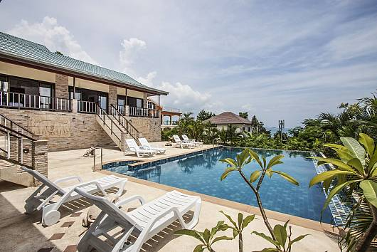 Аренда виллы на Самуи: Bophut View - 4-Bedroom sea-view Villa in Koh Samui with infinity pool, 4 Спальни. 15527 бат в день
