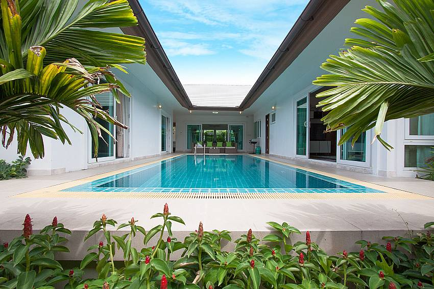 Swimming pool in the middle of the house of Villa Kalasea