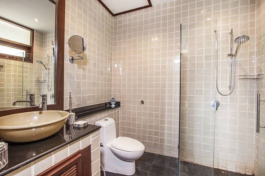 Toilet with shower and basin wash of Chaweng Sunrise Villa 1