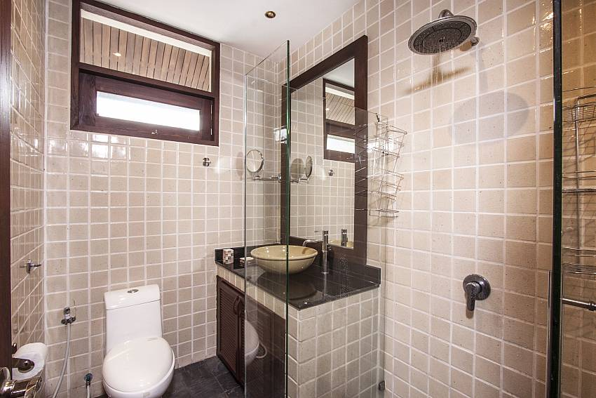 Bathroom with shower and toilet of Chaweng Sunrise Villa 1