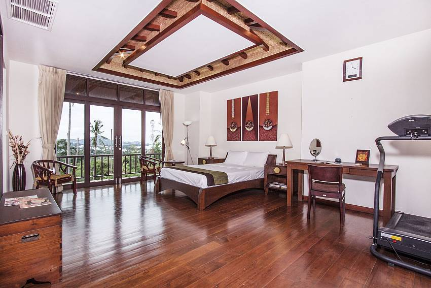 Large bedroom with desk and see views of Chaweng Sunrise Villa 1 (Second)
