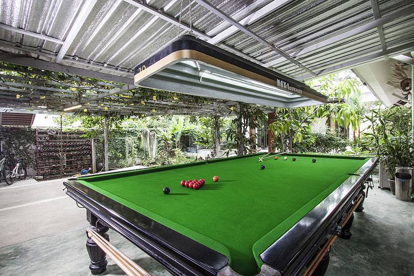 Pool table outside of Namuang Villa