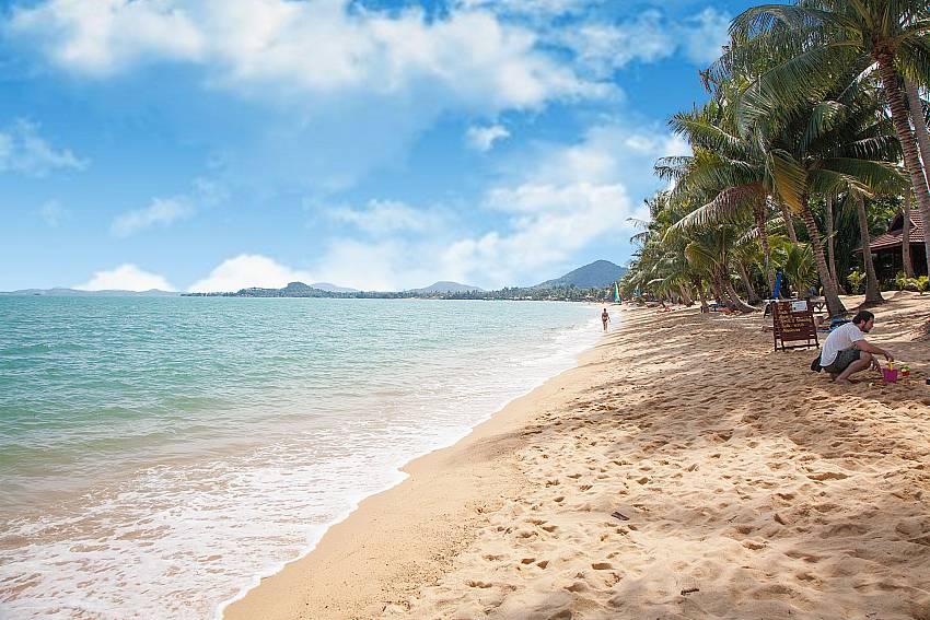 Tranquil Mae Nam beach close to Baan Maenam No.3 in Samui Thailand