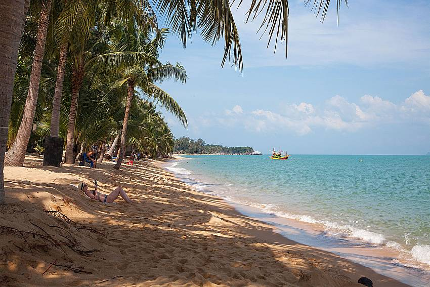Enjoy the serene beach of Mae Nam near Baan Maenam No.3 in Koh Samui