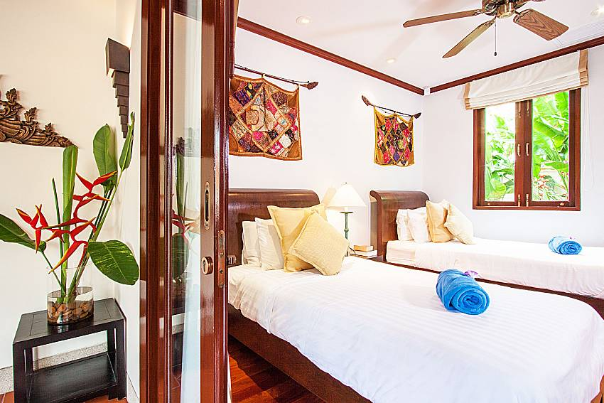 Double bedroom is decorated with beautiful pictures of Baan Pasana (Second)