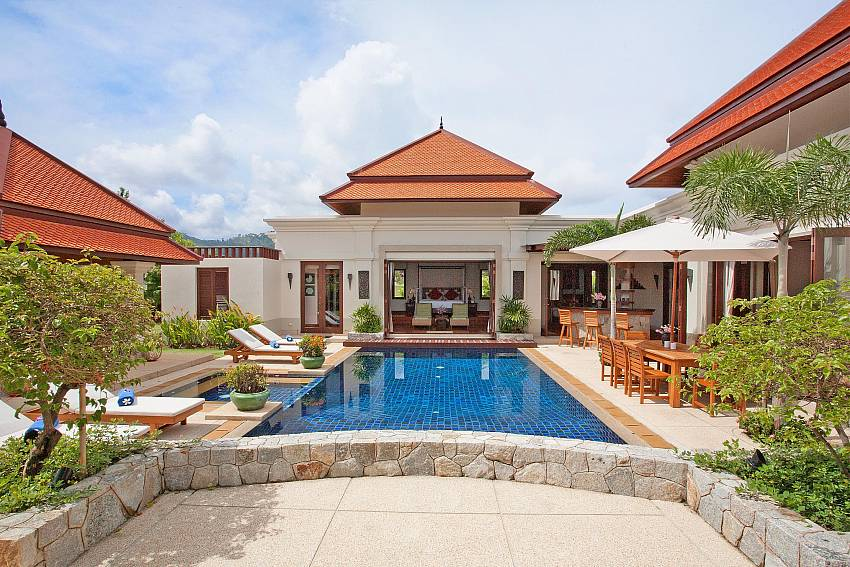 Swimming pool in front of the house of Baan Pasana