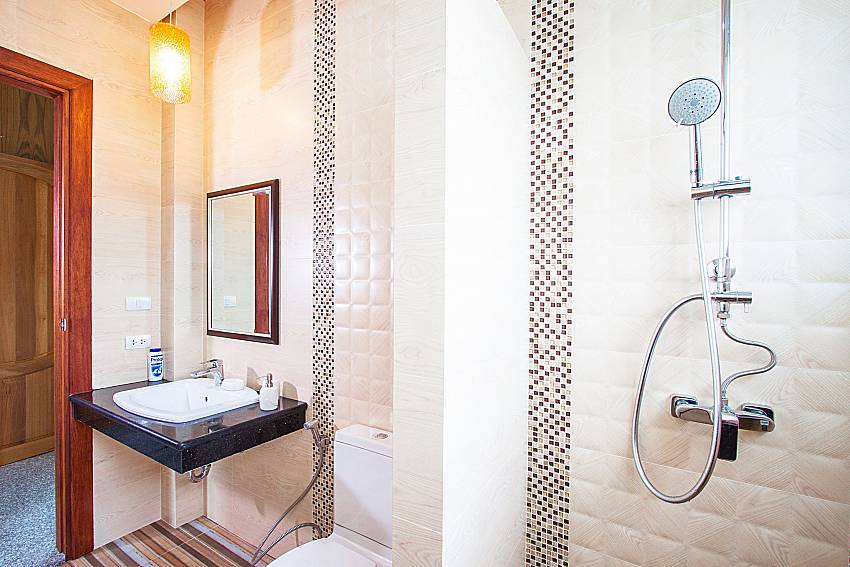 Shower with basin wash of Pensri Villa