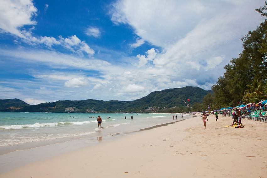 Patong beach short distance from Baan Sanun 3 in West Phuket