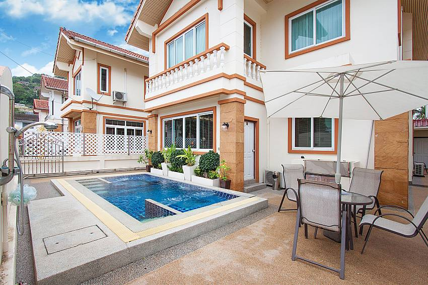 Communal pool for guests at Baan Sanun 4 in Patong West Phuket
