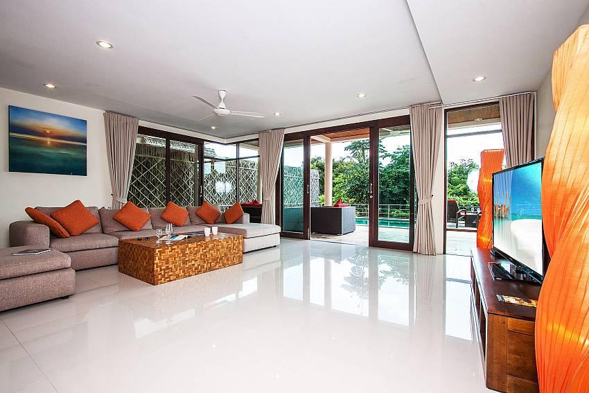 Living room walking distance outside of Baan Phu Kaew C1