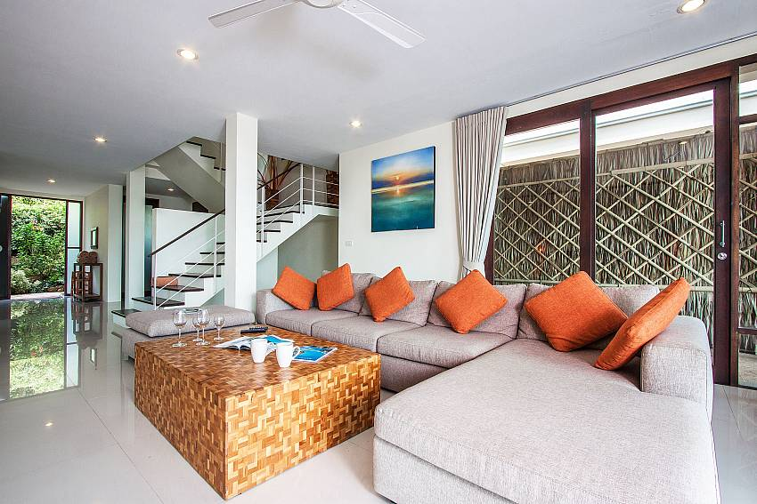 Living room near the ladder of Baan Phu Kaew C1