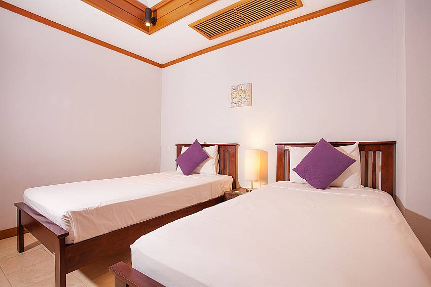 2 single beds in 3. bedroom of Ban Talay Khaw B12 at Tongson Bay Koh Samui