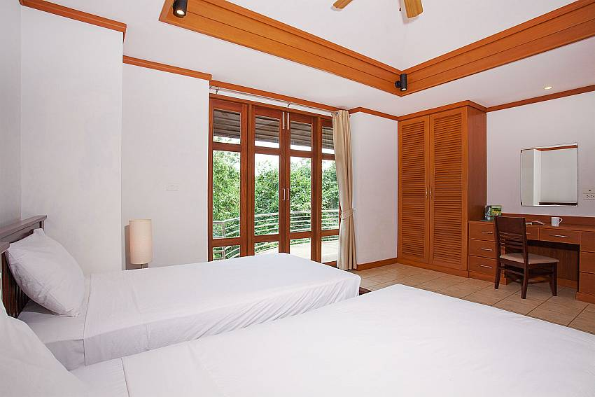 2 single beds in 2. bedroom at Ban Talay Khaw B12 Koh Samui
