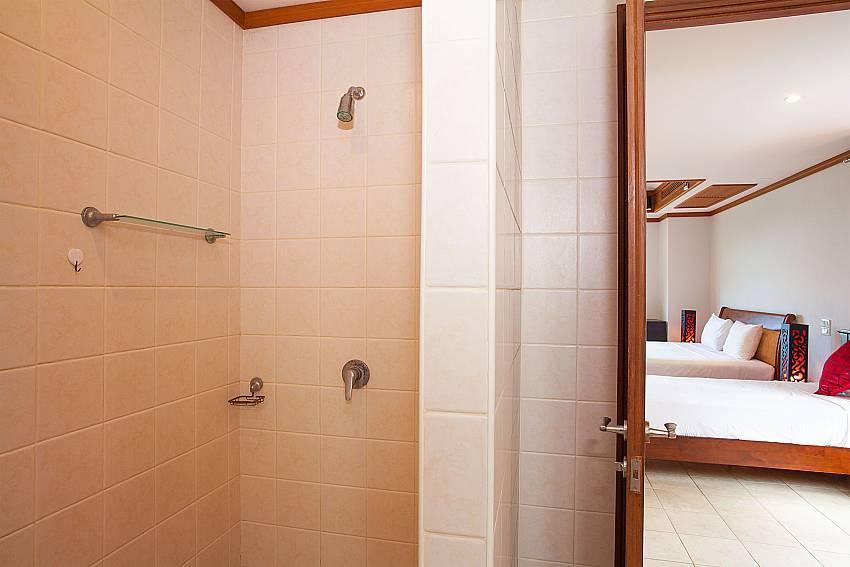 Shower in master bath at Ban Talay Khaw B12 near Choeng Mon Beach Samui