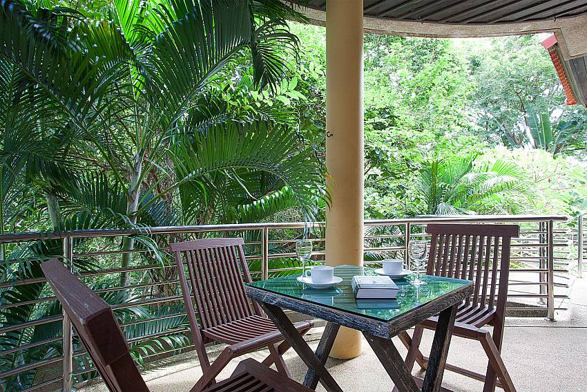 Evelated terrace with sitting area at Ban Talay Khaw B12 Samui Thailand