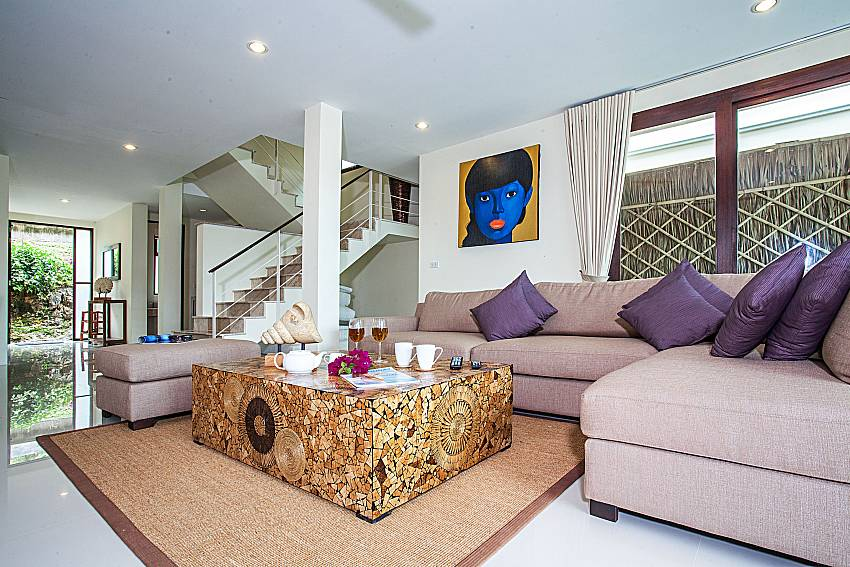 Living room near the ladder of Baan Phu Kaew C3