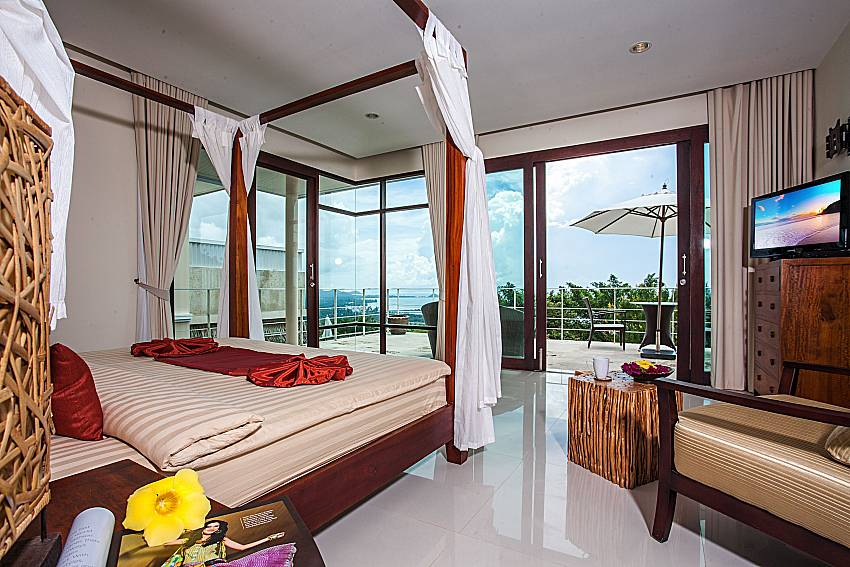 Bedroom overlooking outside of Baan Phu Kaew C3 (First)