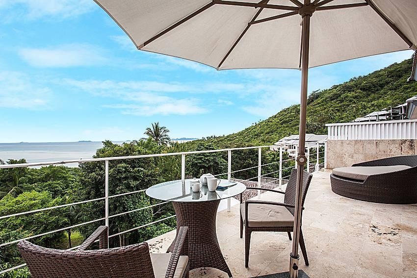 Coffee table on balcony of Baan Phu Kaew C4